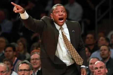 Doc Rivers was unhappy with the referees. With Kevin Garnett in foul trouble, Rivers said the fouls called on him were